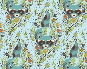 Tula Pink Acacia Racoons Fat Quarter in Sky