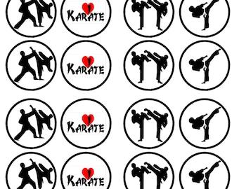 Karate cake topper   Etsy