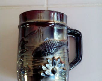 Carnival Glass Mug - Fisherman's Mug
