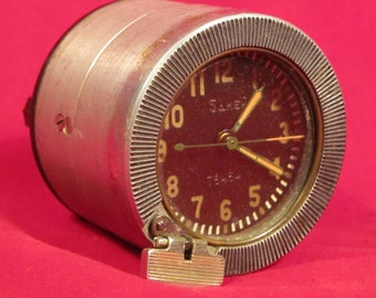 Vintage Soviet USSR Tank Clock for the Soviet Tanks Aircraft MIG 5