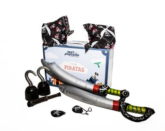 KIT OF PIRATES-toys and accessories of costume pirate (1 child + 1 adult)
