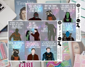 GUARDIANS of the GALAXY Vol 1 Planner Stickers