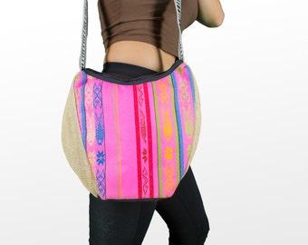 Pink Tribal Shoulder Bag