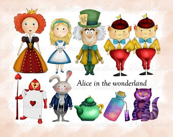Alice in the wonderland clipart, printable. png,