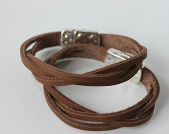 Braided Leather Bracelet / Leather Bracelet / Braided Bracelet / Gift for Her / Gift for Him