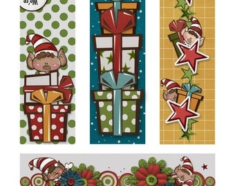 Santa's Helpers Book Markers, Tags or Borders