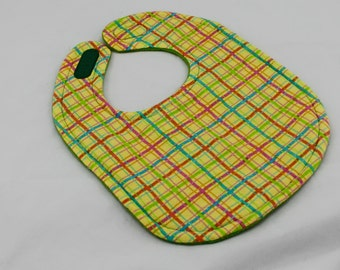 Yellow Plaid bib