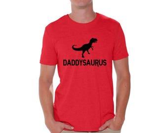 Daddysaurus Funny Shirt T shirt Tops Daddy Saurus Dinosaur Cool Gift for Dad Fathers Day Daddysaurus Shirt