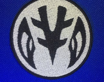 White Ranger Power Coin Symbol Patch