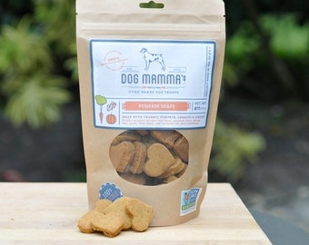 Pumpkin Snaps Organic Dog Treats Non-GMO Project Verified