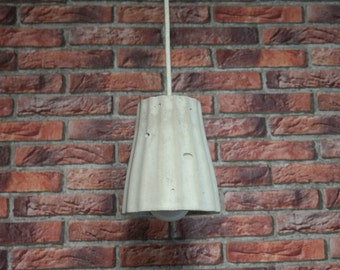 Lamp made of concrete, hanging lamp ceiling lamp concrete lamp pendant lamp with textile cable