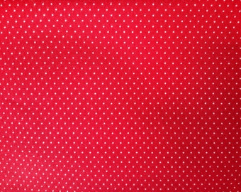 Red Fabric with White Dots