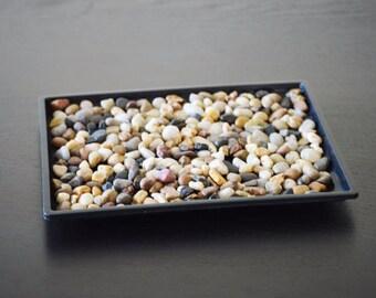 """Bonsai Humidity Drip Tray 8"""" x 10"""" with Pebbles Rocks  (FREE SHIPPING)"""