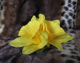 double daffodil clip