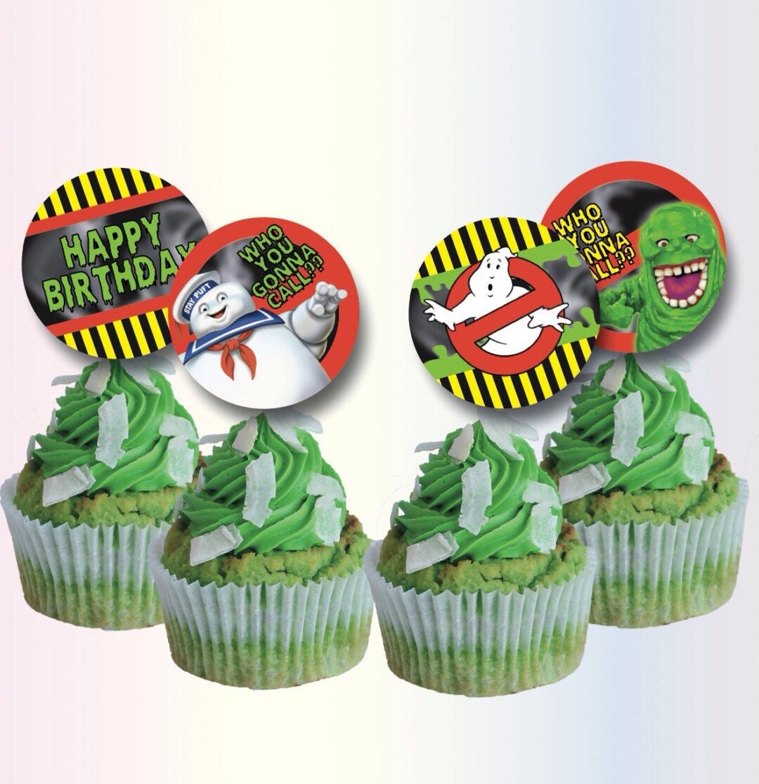 ghostbusters cake topper ghostbusters cupcake toppers ghostbusters birthday 4489