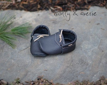 Black Leather Moccasin