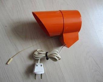 Deens vintage seventies orange wall lamp