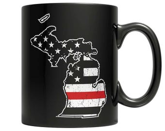 Limited Edition Firefighters - I fight what you fear Michigan Brotherhood Mug