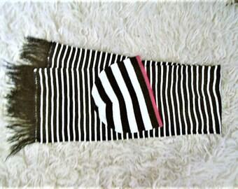 Wool cap and scarf,  Lined scarf / Bonnet et écharpe en laine.  Echarpe doublée.