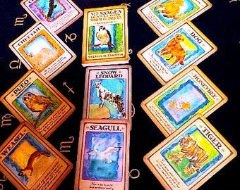 "Tarot Card Deck ""Animal Spirit Guide Oracle"" FIRST EDITION!!!!! Tarot Cards, Vintage Tarot Deck,  Rare Tarot Deck, Fortune Telling Deck."