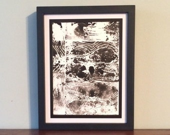 Landscape Over Landscape Abstract Design- Original Relief Print
