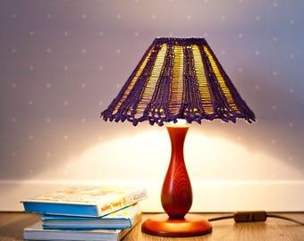 Knit cozy Lamp shade. Knitted Lamp shade. Lavander Lamp shade. Lamp shade Décor. Baby room décor.