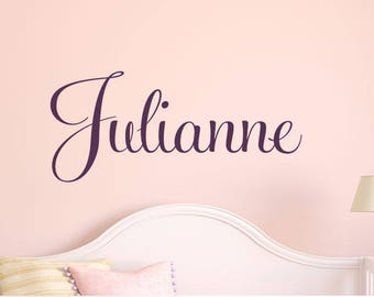 Girls Custom Name Decal - Nursery Name Decal - Childrens Wall Decal - Vinyl Wall Decals