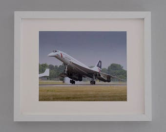 Concorde-free postage- framed photographic print- aviation art-gifts for men