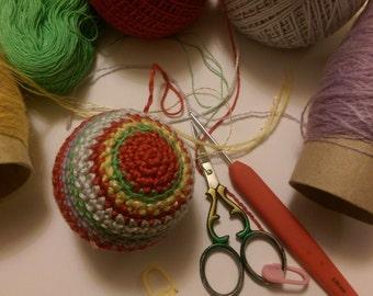 christmas baubles crochet pattern