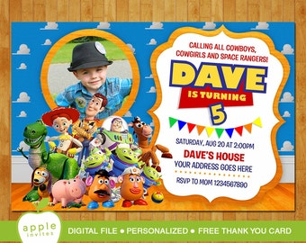 toy story invitation  etsy, Party invitations