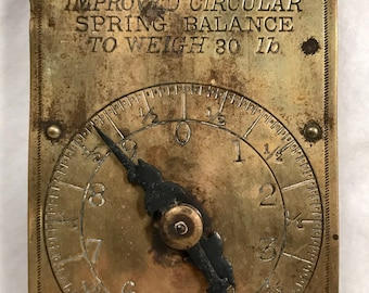 Chatillon's Improved Circular Spring Scale, Milk Scale, Brass Scale, 30lb Scale