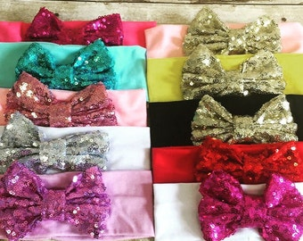 Sparkly bow headband