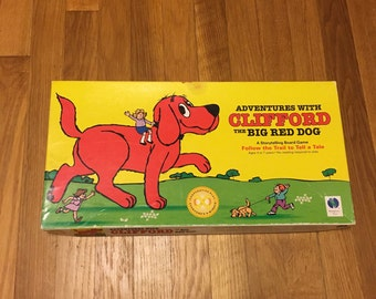1992 adventures with clifford the big red dog storytelling board game
