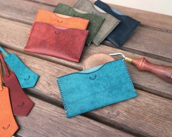 Leather cardwallet, Leather slim card wallet, Leather wallet, Leather card holder, Leather business card wallet, Card wallet leather