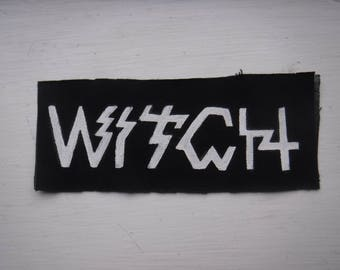 Witch Stoner Doom Metal Hand Painted Patch