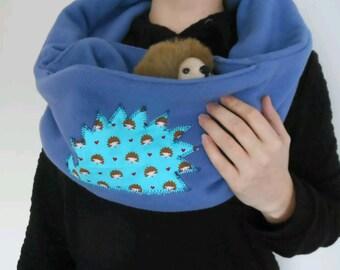Bonding scarf pouch for all small animals PYGMY HEDGEHOG RAT guinea pig degu hamster