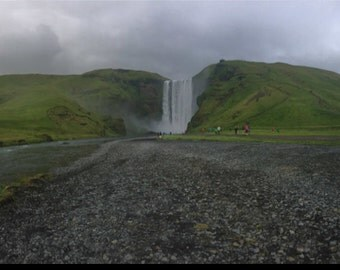 Outdoor Photography, Iceland Photography, Wall Art, Waterfall Photo, Skógafoss Waterfall