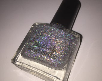 Silvermist by Positively Pawlished - silver holographic 10ml nail polish