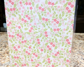 A5 Wide Traveler's Notebook Pink Floral Dashboard