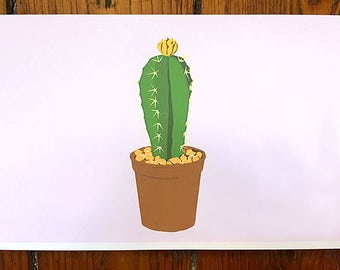 Prickly Plant Blank Stationery Cards - Set of 5 - Cactus