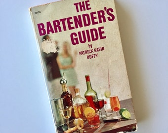 The Bartenders Guide by Patrick Gavin Duffy Revised by James Beard Paperback 1970 Reprint of 1940 Book