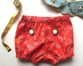Girl Explorer Bloomers - 3-6 Months