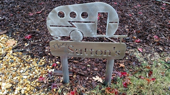 Personalized Camp Signs Metal Art Decor for the campground