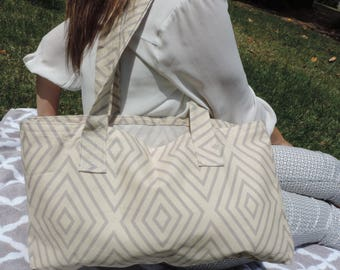The Hilton Head Beach Tote [Handmade geometric beach bag]