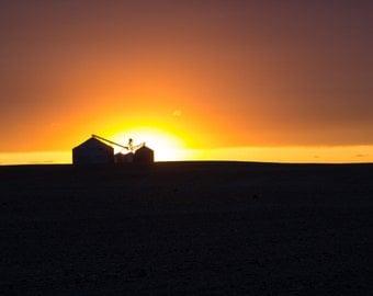 Eastern Washington Farm Silhouette