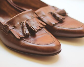 Divarese Vintage Leather Loafers. Made in Italy. UK 7 / US 9 / EU 40 size