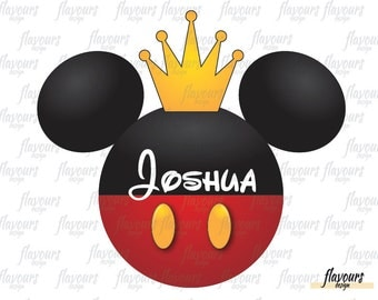 Mickey Mouse King - INSTANT DOWNLOAD - Disney Mickey Birthday Printable Iron on Transfer