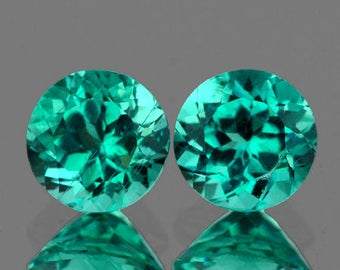 Natural Paraiba Blue Green Apatite 7.00 MM - VVS