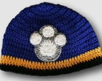 PAW Patrol Hat, Crochet PAW Patrol Hat, Baby Shower Gift, Winter Hat, Crochet Hat