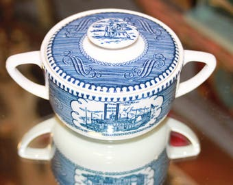 Currier and Ives Sugar Bowl